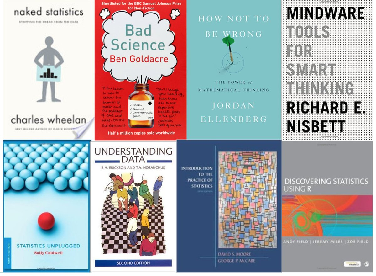 Yesterday at #SNDSF @sisiwei was asked about books to learn data literacy. Here are some of my recommendations https://t.co/ecuZYptx7I