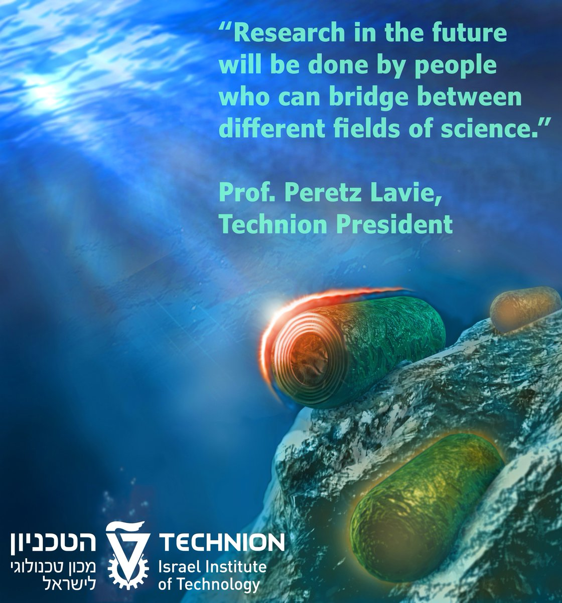"""Research in the future will be done by people who can bridge between different fields of science"" #Technion #Israel https://t.co/7b14AyTmru"