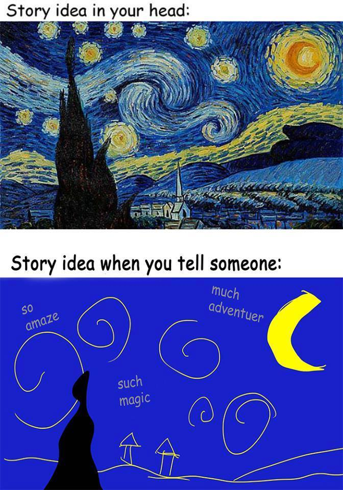 Prepping for @screencrafting #NaFF16 Pitch Fest. Want my stories to resemble the top pic instead of the bottom one https://t.co/w89fRpLud8