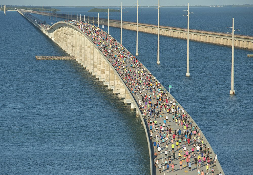 Another one for the books! Congrats to runners! 35th Annual Seven Mile Bridge Run today, under perfect skies #FLKeys https://t.co/Aox0Xriea6