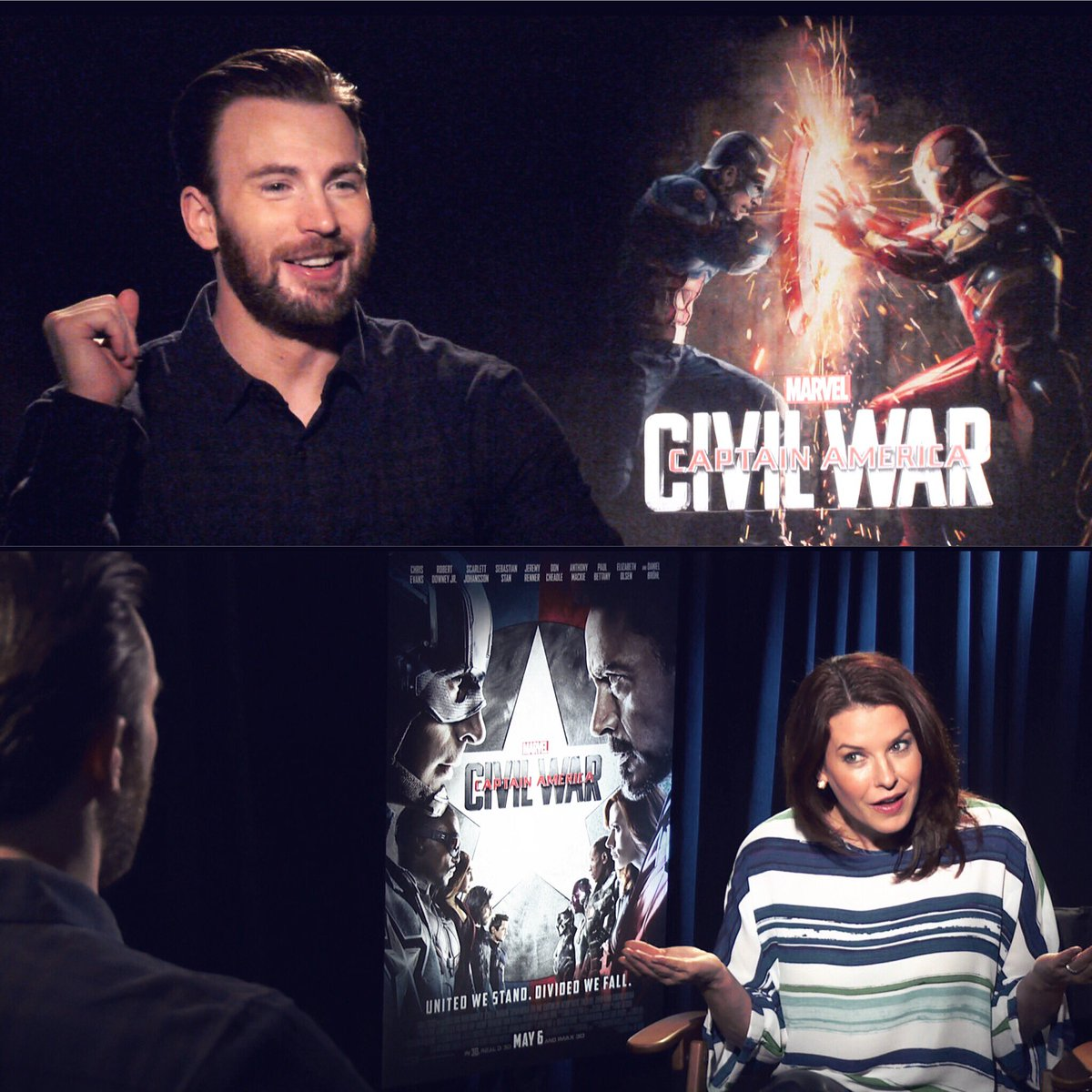 Just a moment with @ChrisEvans and I #nbd #CaptainAmericaCivilWar #TeamCap https://t.co/PyHTsw6sy6
