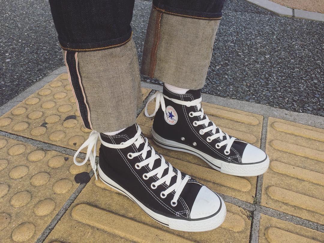 靴紐 可愛い結び方 コンバース