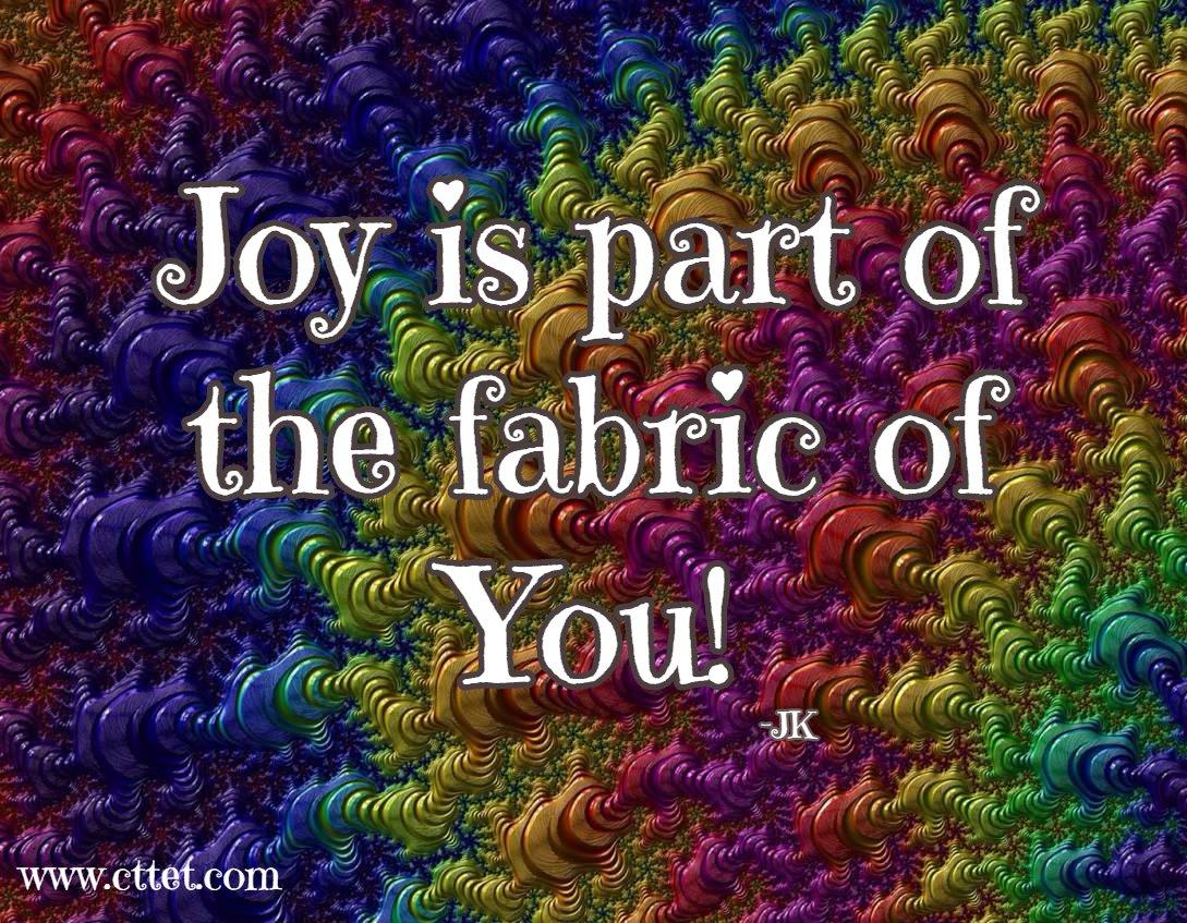 Joy is part of the fabric of YOU! #cttet #joy #spiritchat #joytrain https://t.co/50ja3Aw6B6