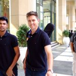 With @trent_boult he is nice guy ???? @SunRisers #OrangeArmy https://t.co/OfjuhF14bu