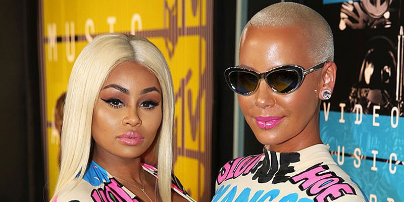 Blac Chyna parties with Amber Rose after revealing engagement to Rob Kardashian