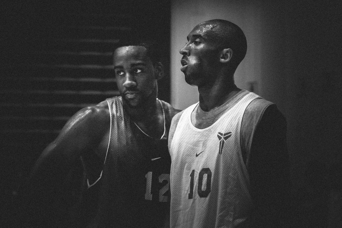 Photo I took of Kobe & Harden playing against each other for the first time. Harden was in High School. #KB20 https://t.co/769Vq67FwM