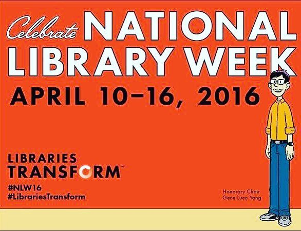 Celebrate National Library Week by thanking a librarian! Cards, cookies, hugs, flowers... … https://t.co/Ax2kGjD9Ij https://t.co/BCWOQgIzyd