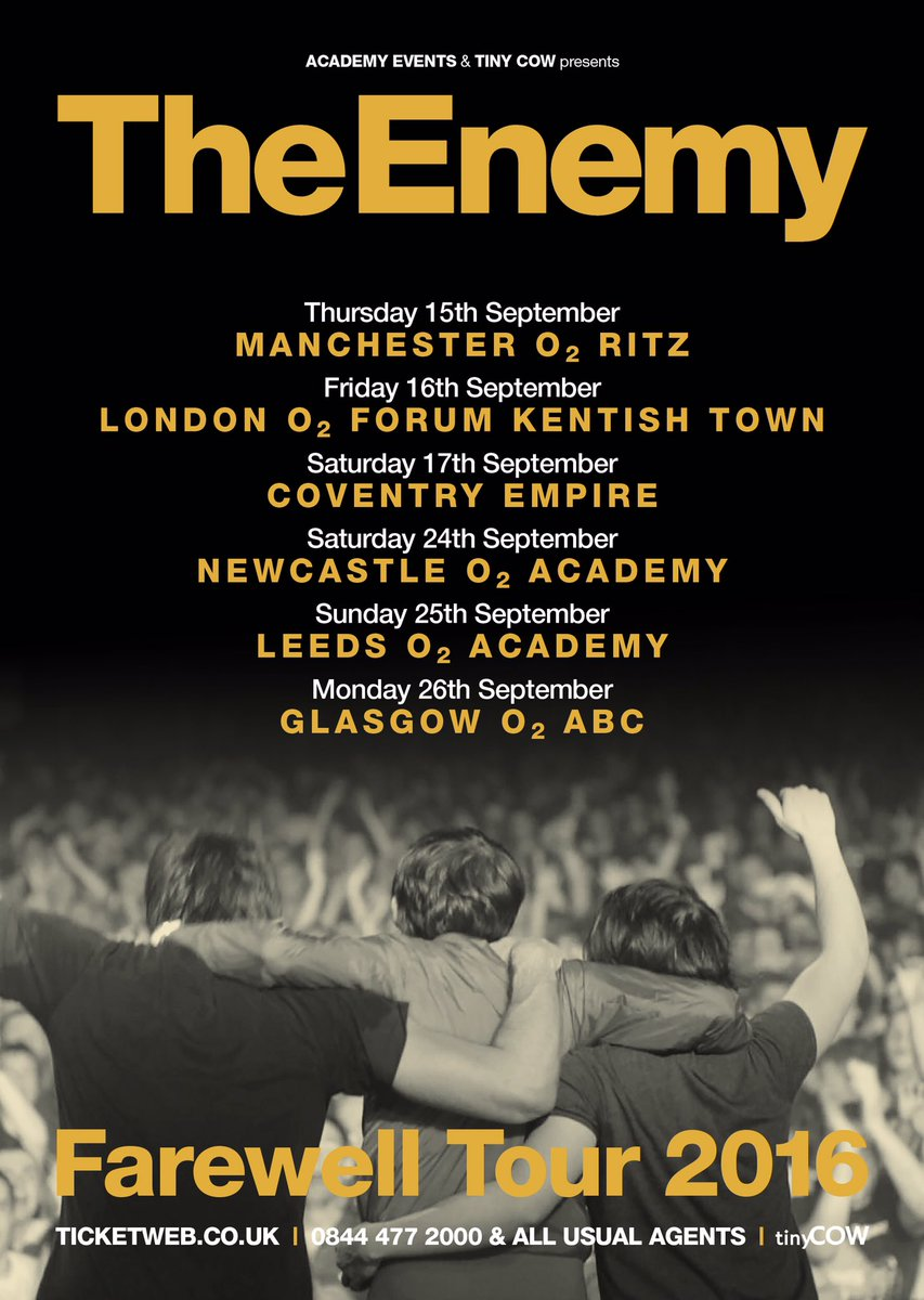 FAREWELL TOUR - o2 pre sale Wednesday 9am, general sale this Friday 9am. See you down the front https://t.co/OKtHWmBr4b