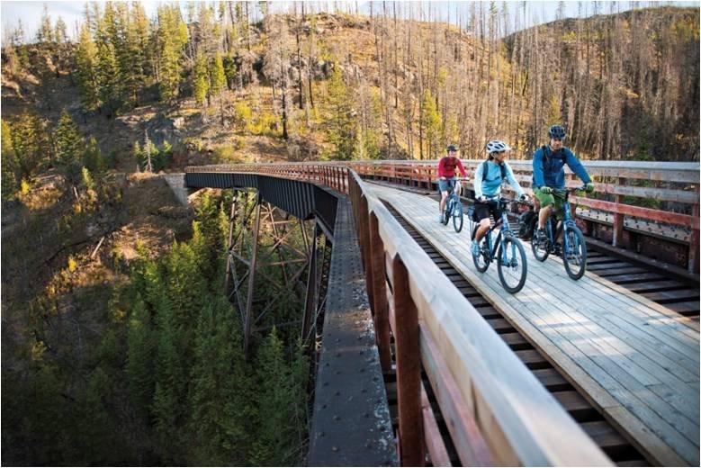 廃線はもったいない。ならば新たに道にしてしまおう!という発想で生まれたサイクリング・トレイル!線路を自転車で走るのは興奮です!リツイートで #キャンペーン に参加! #カナダマインド https://t.co/ErNIZBm3Ak https://t.co/ewz1llQdkM
