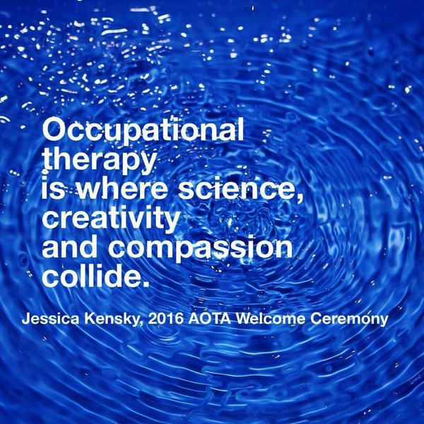 Powerful message from Jessica Kensky - Boston Marathon bombing survivor - at last week's #AOTA16 conference. https://t.co/6ngm1OH4WZ