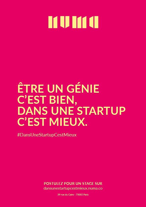 Les #startups accélérées chez @NUMAparis recrutent! C'est par ici> https://t.co/CZHFGTdLdA  #DansUneStartupCestMieux https://t.co/LNoNxlMaml