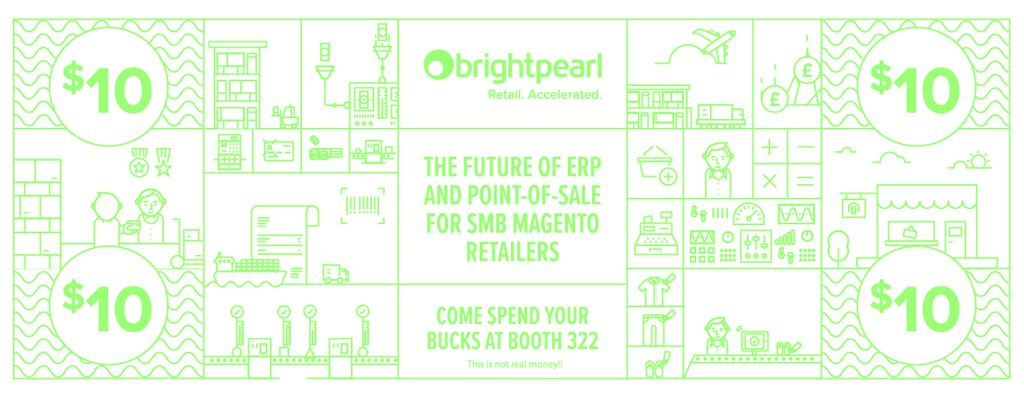 BrightpearlHQ: Get your hands on Brightpearl's bucks at #MagentoImagine to grab yourself some free swag and preview our new #POS! https://t.co/RvorTCbiPb