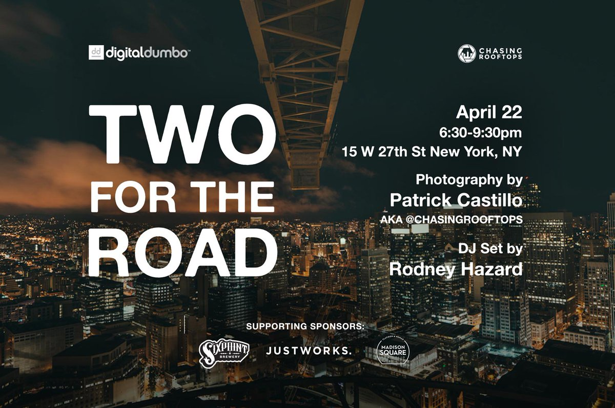 Music, Film, & Photography from @ChasingRooftops & @RodneyHazard - Join us 4/22  RSVP: https://t.co/pkVYNQUATH https://t.co/SvD6zk4PF8