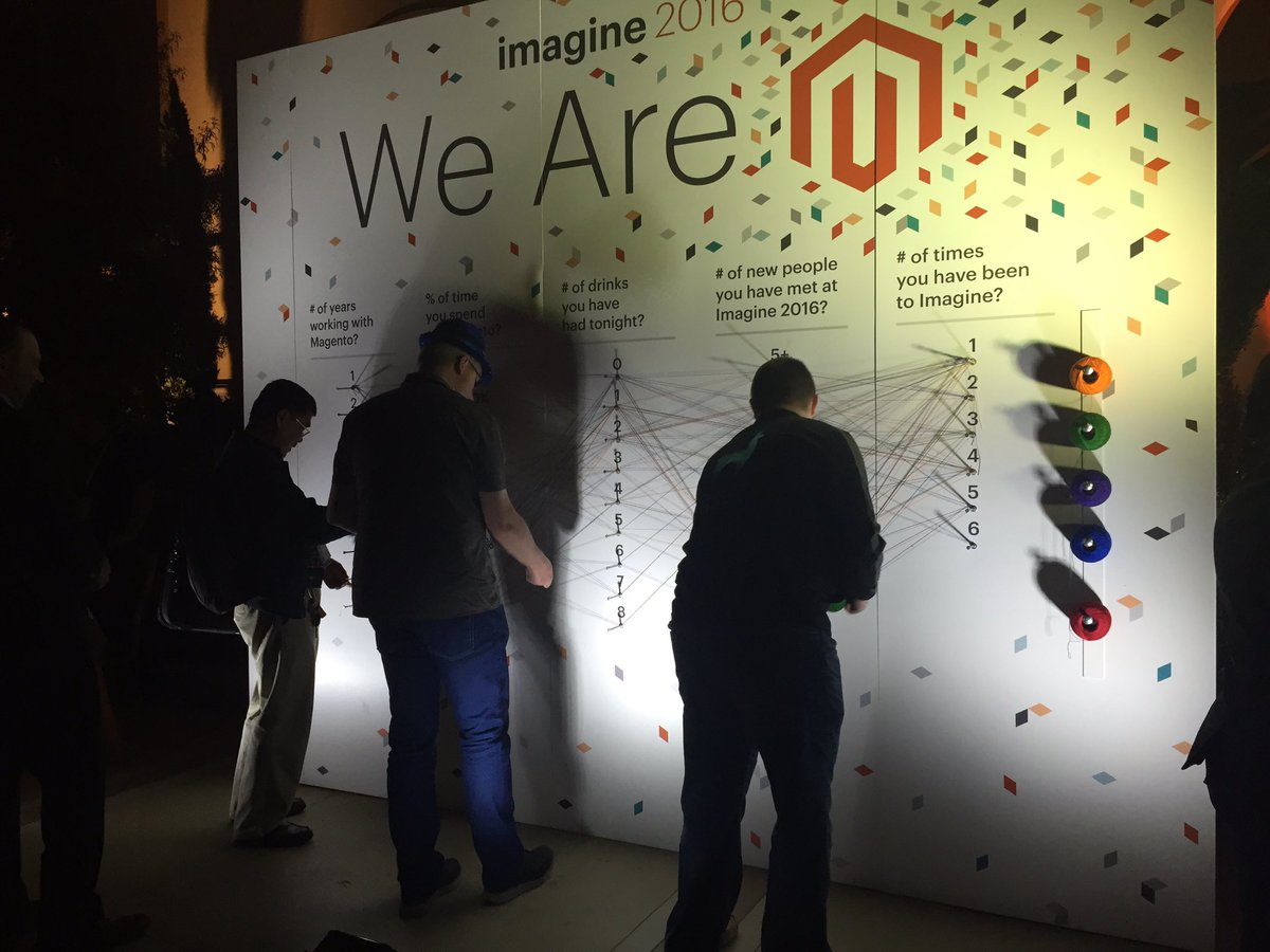 magento: Tell your Magento story at the Interactive Community Board. #OpeningNightEvent #MagentoImagine https://t.co/S4jc2KnqLB