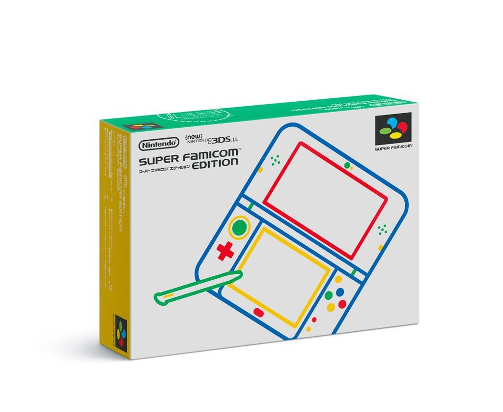 Oh my god, the box for the Super Famicom themed new 3DS XL https://t.co/lxWJCHzJkx
