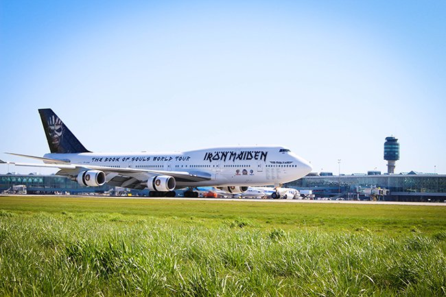 Aircraft of the month is @IronMaiden's EdForceOne. Show us your photos using YVRspotters.