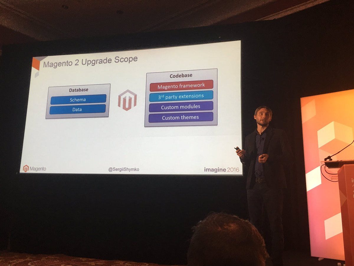 gsautereau: Now @SergiiShymko dives into the code migration tool from M1 to M2. Do we believe in magic? #MagentoImagine https://t.co/hDF14had6G