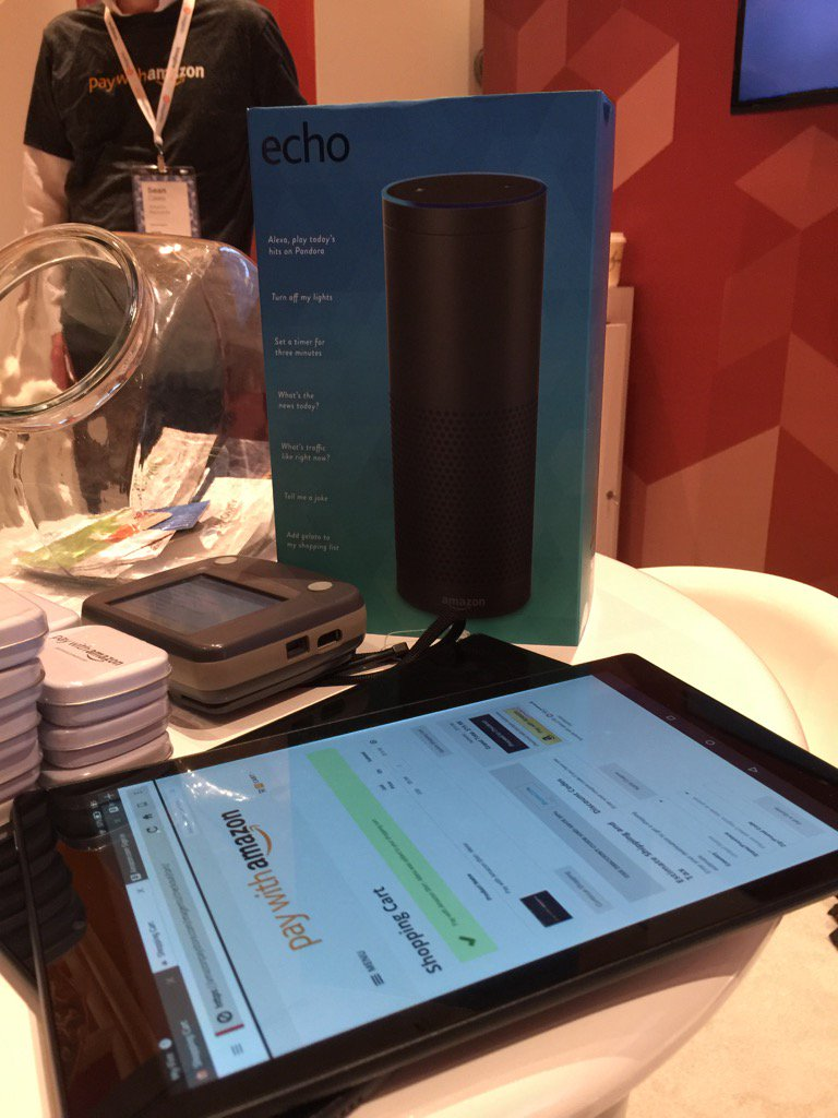 amazonpayments: We're drawing our first Amazon Echo winner at #MagentoImagine soon. Come by our booth and ask how you could win! https://t.co/NLgI78k6FG
