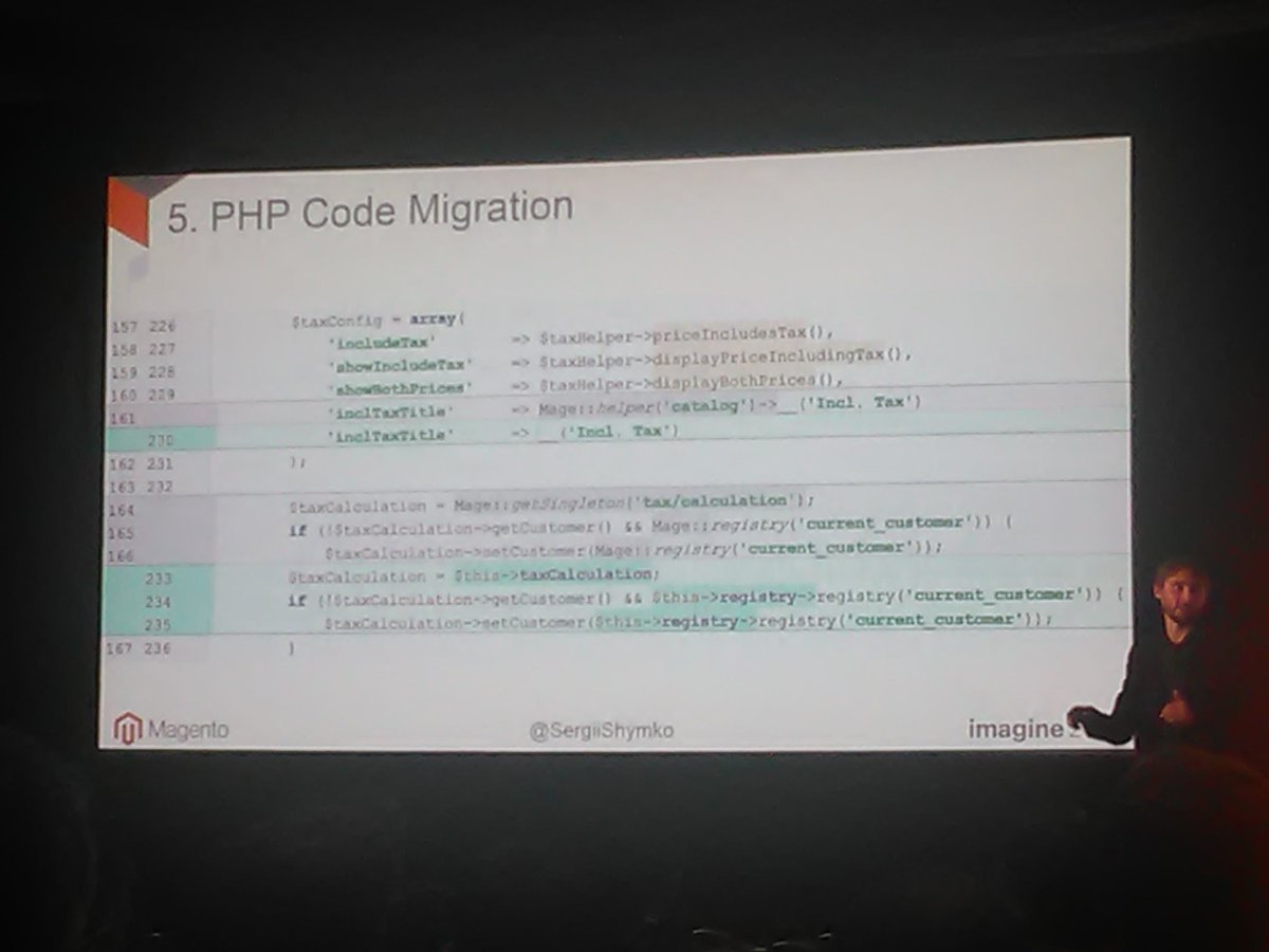 RLTSquare: 'Who likes to look at some code ... I do!'nn#M2DeepDive #MagentoImagine https://t.co/rIWKExarg8
