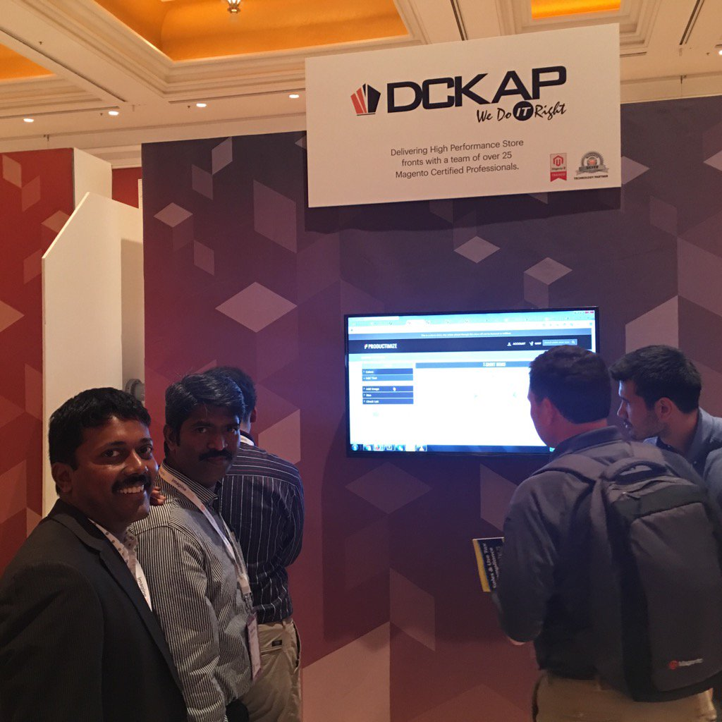 DCKAP: Productimize demo @DCKAP  booth. #MagentoImagine https://t.co/bi6r8x2Mh6