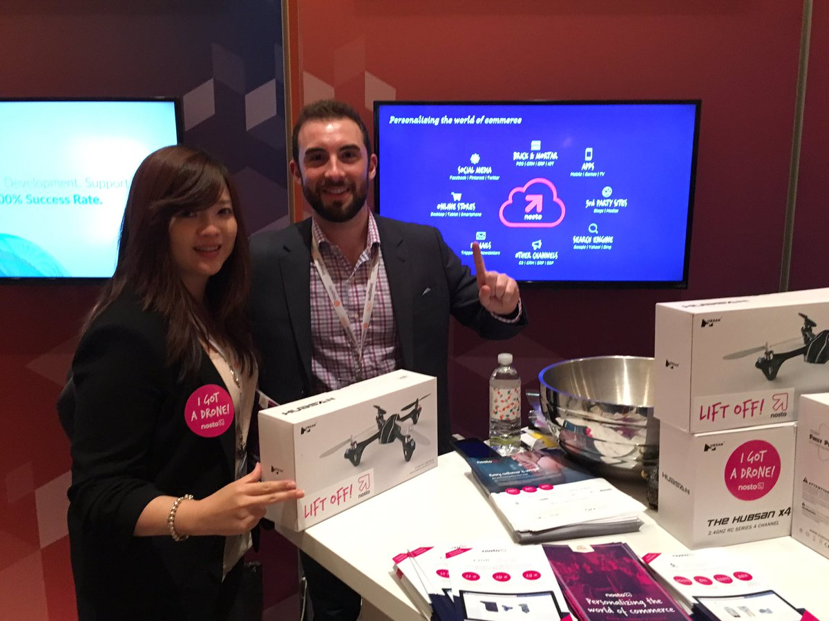 NostoSolutions: Congratulations to Lily from https://t.co/H1nSFcGfXy on winning a Nosto drone! #MagentoImagine https://t.co/VUGaUxgHxa