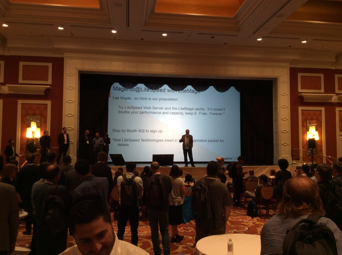 magento: Ready, set, go! Solutions Spotlight is happening now at the Sponsors Marketplace #MagentoImagine https://t.co/faDWIEqz71
