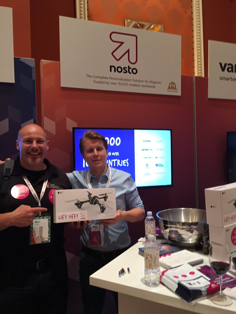 NostoSolutions: And the winners keep rolling in! Congrats to Matt Nasca @CoreHealthCares on winning a Nosto drone! #MagentoImagine https://t.co/FDEoXM9oqx