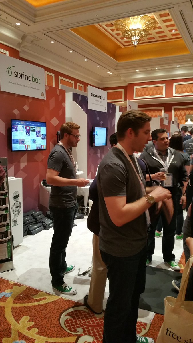 SethRand: The @springbot team discussing #socialmedia #ecommerce #marketing at #MagentoImagine #Imagine2016 https://t.co/bzug2upONR