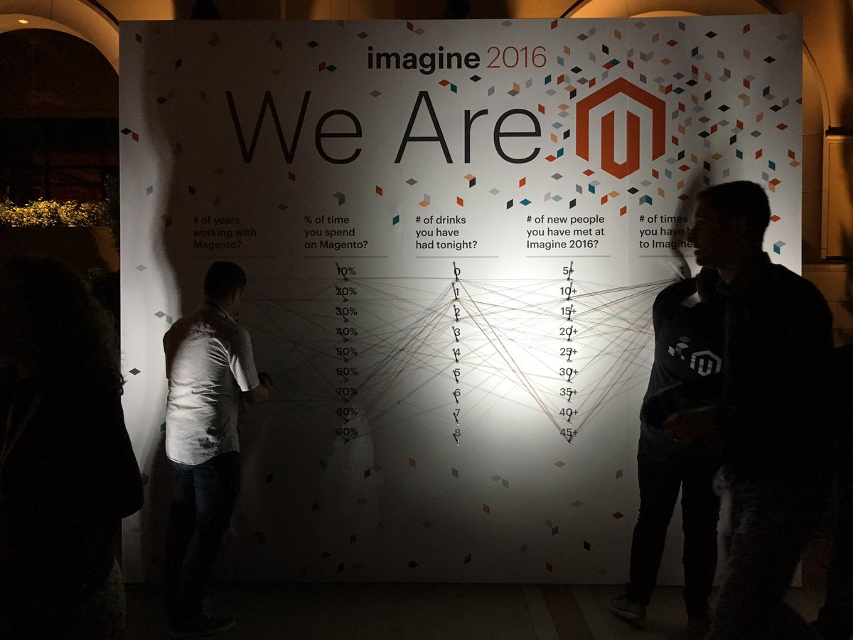 molme: @Magento engagement table! So cool idea :) love it! #magentoimagine https://t.co/0RxaoqYOpb