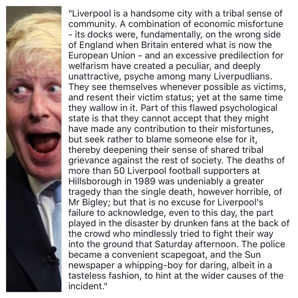 Let's not forget the words of @BorisJohnson from 2004. Future PM? I damn well hope not. #JFT96 https://t.co/SwAgVfEUMt