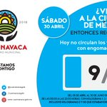 ¿Viajas a la Ciudad de México? Recuerda, hoy no circula…#Cuernavaca https://t.co/OyXBVU2jeT