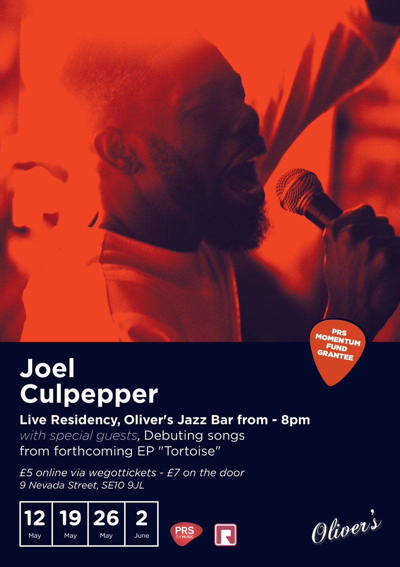 PLS RT Joel Culpepper residency @ Oliver's Jazz bar in May! Brand new music!!!! #TortoiseEP