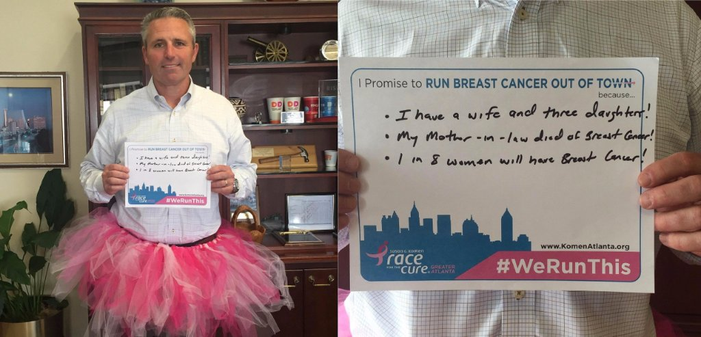 GP CEO Jim Hannan is ready for the @KomenAtlanta #raceforthecure on May 7 in Atlanta, Ga.! #TutuTuesday https://t.co/RIPqgYA4ur