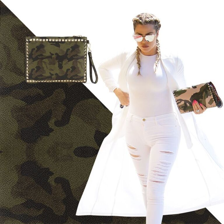 All white and camo is signature Khlo$!!! Head to my app and shop my pieces #SYWC https://t.co/VoP2ymyDtZ https://t.co/CXBlJS0Isx