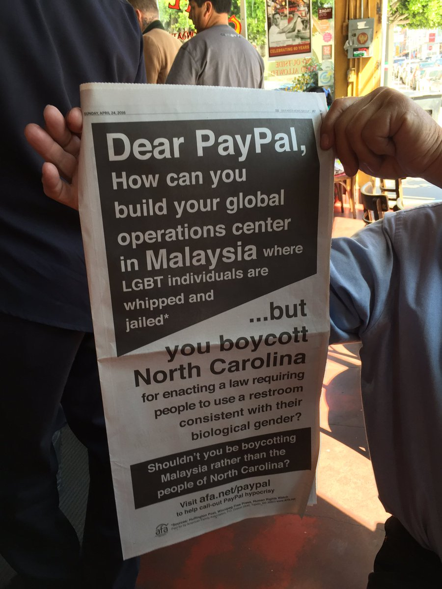 An ad in today's Mercury News about PayPal and Malaysia. https://t.co/0PiOtvMhba