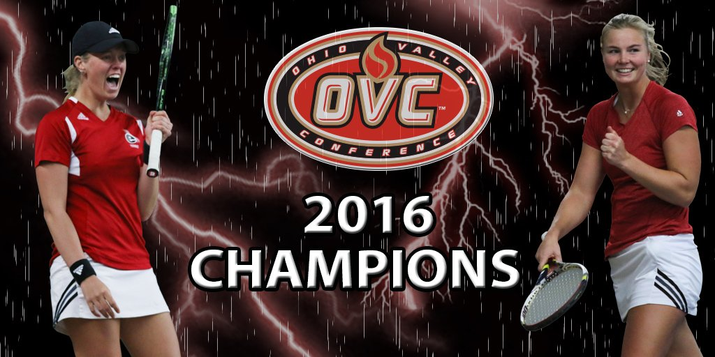 OVC CHAMPS! Women's Tennis takes the first 4 singles matches to defeat UT Martin 4-1 to win the OVC Championship! https://t.co/q5g6VQaY1P