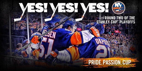 #ISLES WIIINN!!! Round 1 victory ✅  Round 2 HERE WE COME!!! YES! YES! YES! #DriveFor5 https://t.co/H4ta3mBeVH