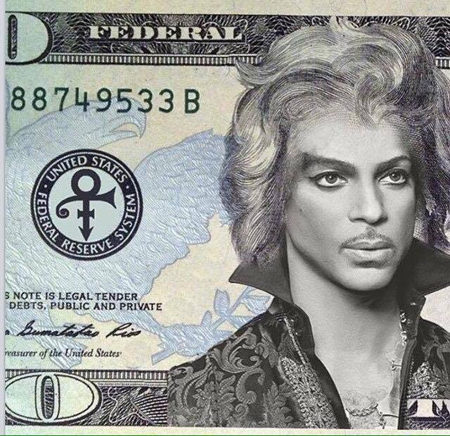"""They should put Prince on the $20 bill and call it $19.99. The bill formerly known as the twenty."" Thx @McAndrew https://t.co/kNPYhj459z"