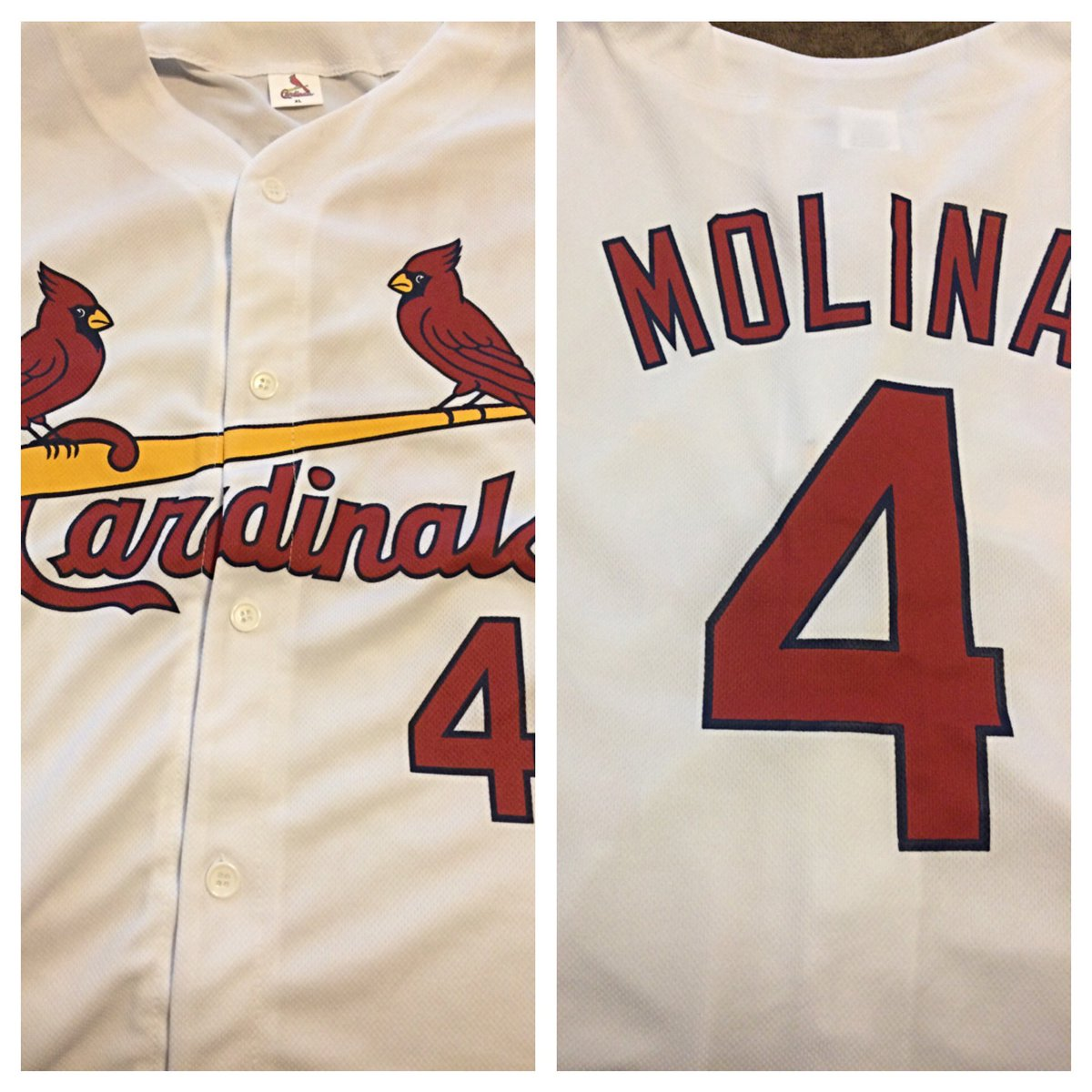 Since @RallyStLouis gave me an awesome jersey, I'll give away this Yadi #STLCards jersey! Just RT to enter! https://t.co/B728KUv3iQ
