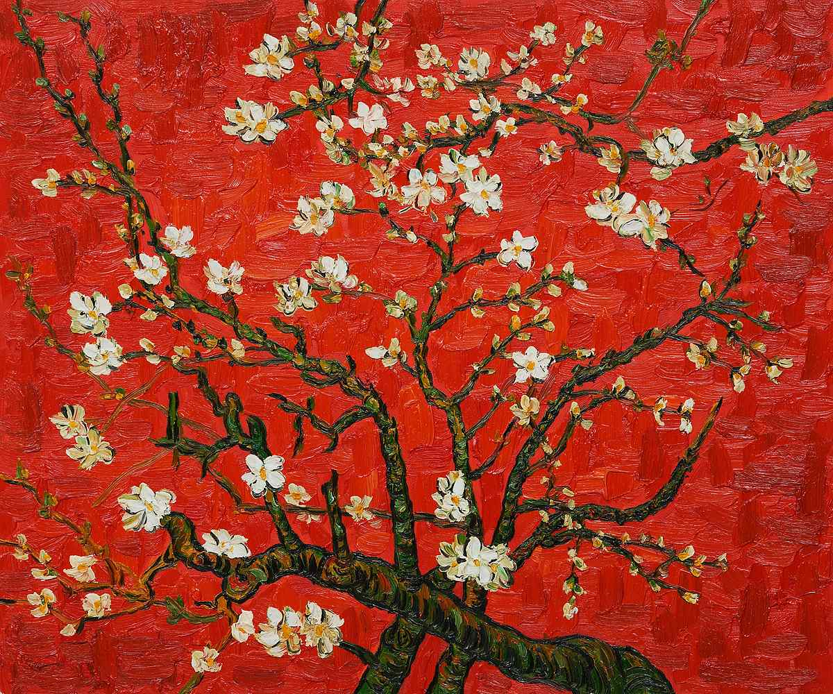 Vincent van Gogh, Branches Of An Almond Tree In Blossom, 1890 https://t.co/LE4YQDEmxO