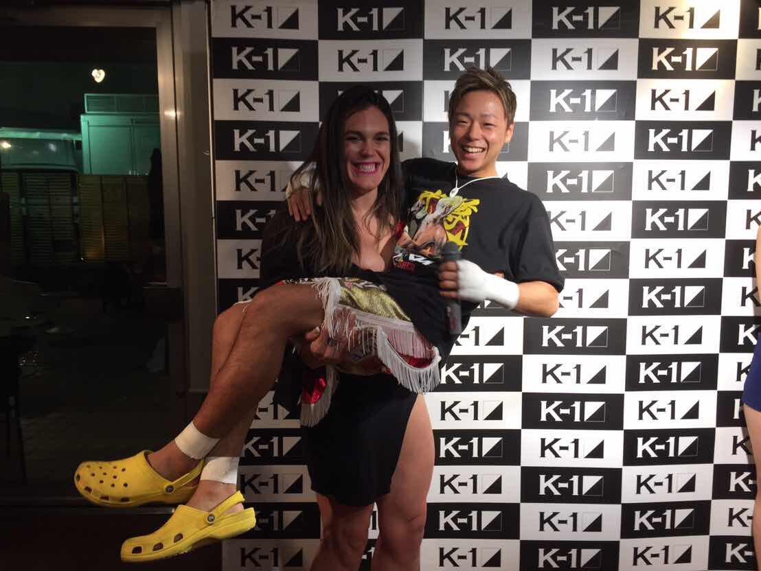 I and the superstar takeru yesterday at k1..私とK1でのスーパースタータケル昨日 #rizinff #rizin #k1 #k1_gp @takerusegawa  love japan https://t.co/kBOQ1ZQQfh