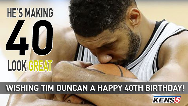 HAPPY BIRTHDAY: Tim Duncan plays down all milestones, but we're wishing him a happy 40th birthday anyway! #GoSpursGo https://t.co/CRpGwXjFq6