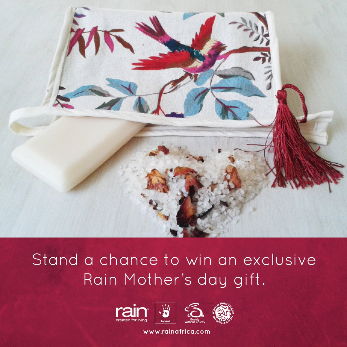 """WIN! Simply tweet """"I want to win with @rain_africa  this Mothers Day! #Rainafrica"""". Competition closes 29/04/2016. https://t.co/XJ5iIty4Wa"""
