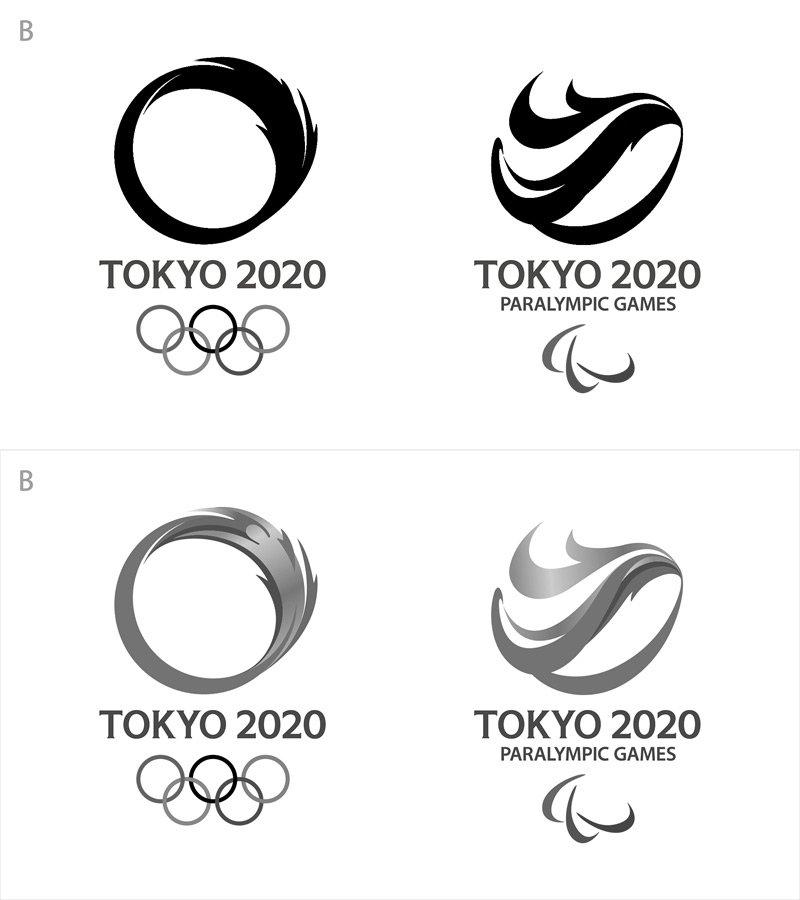 B案は単色印刷しなきゃいけないときや立体物にするときに困る。D案もオリンピックの方の矢印部分のグラデーションの再現で困る。そうすると、もうA案かC案の二択になるわいねぇ。。。  #東京五輪 #エンブレム https://t.co/1lW5ug4lQ0