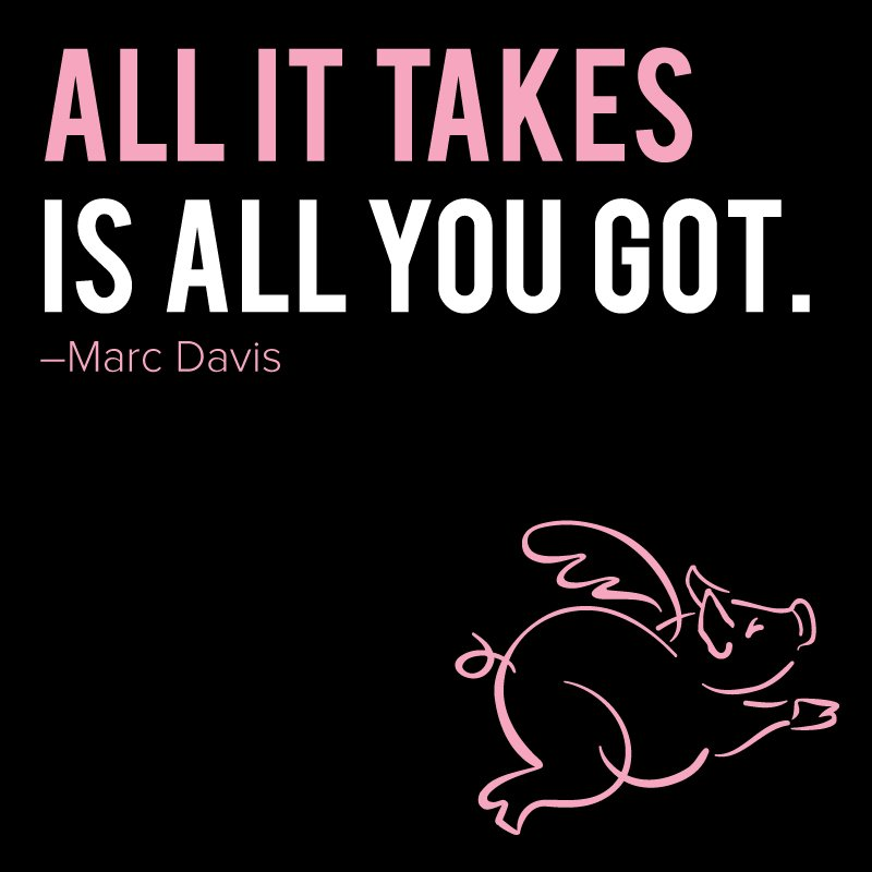 Happy Pig Week! Give it all you got this weekend. #MotivationMonday #runflyingpig https://t.co/uS1envzlnL