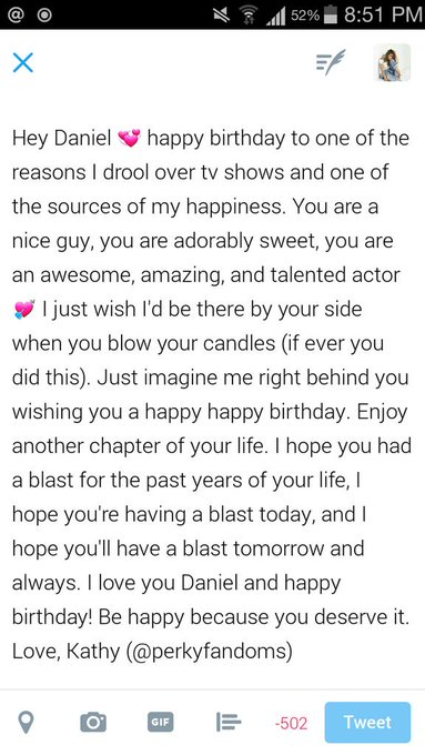happy birthday love!! please read this, I love you so much Daniel