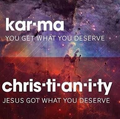 Retweet if you believe in Jesus instead of karma https://t.co/rWASvEOIL7