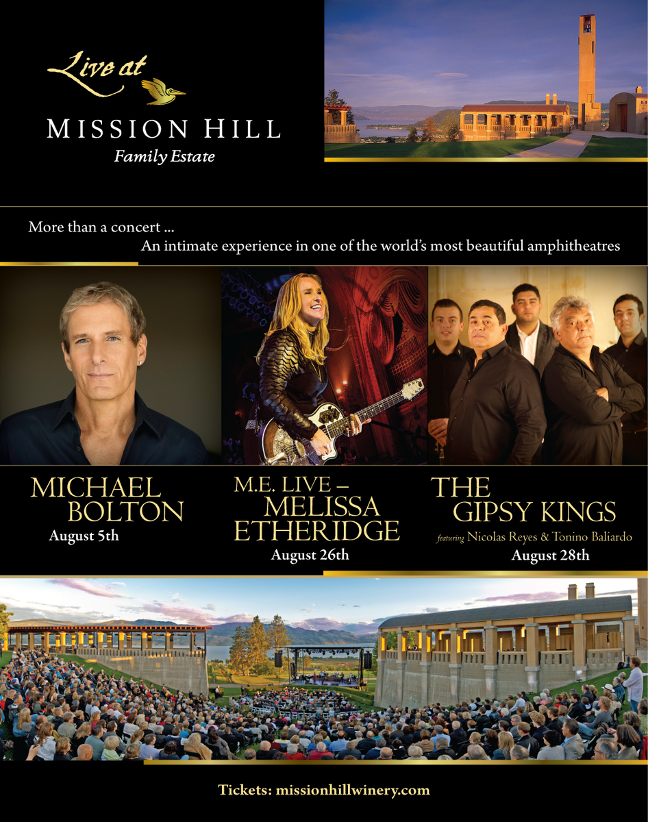 Just announced - the 2016 Live at Mission Hill Concert Series!  #bcwine #summer #winery #concert #explorekelowna https://t.co/JBHO5n4Zkq