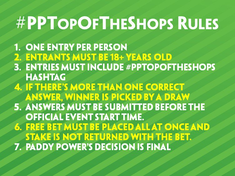 Guess the 1st goalscorer & final score in the Spurs v WBA game to win £25 in free bets in shops! #PPTopOfTheShops https://t.co/vh1Z5212ql
