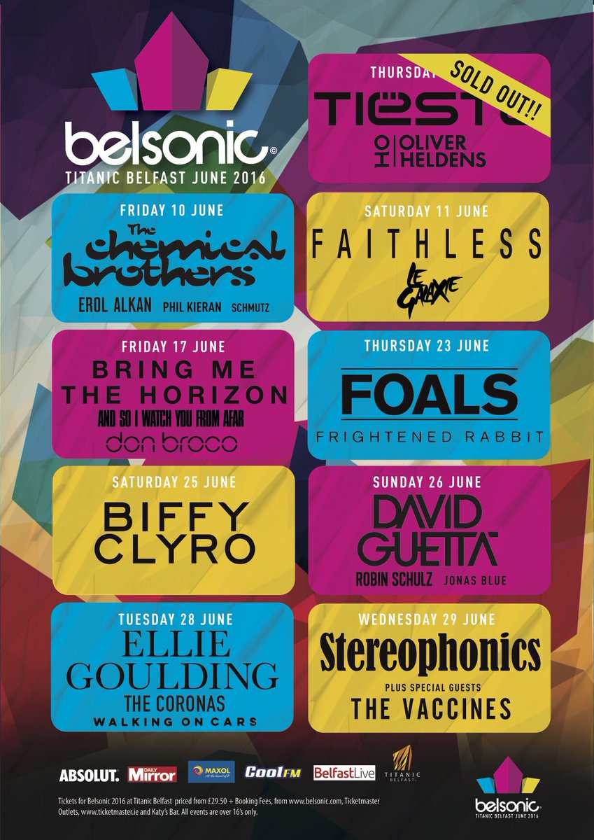 Delighted to be playing the incredible @belsonicbelfast on 17th June joining the mighty @bmthofficial & @DONBROCO https://t.co/qpgWj0hekb